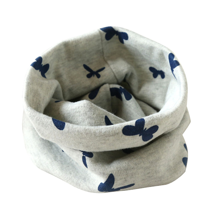 Hot Sell 2017 Promote Autumn Winter Boys Girls Collar Baby Scarf Cotton O Ring Neck Scarves