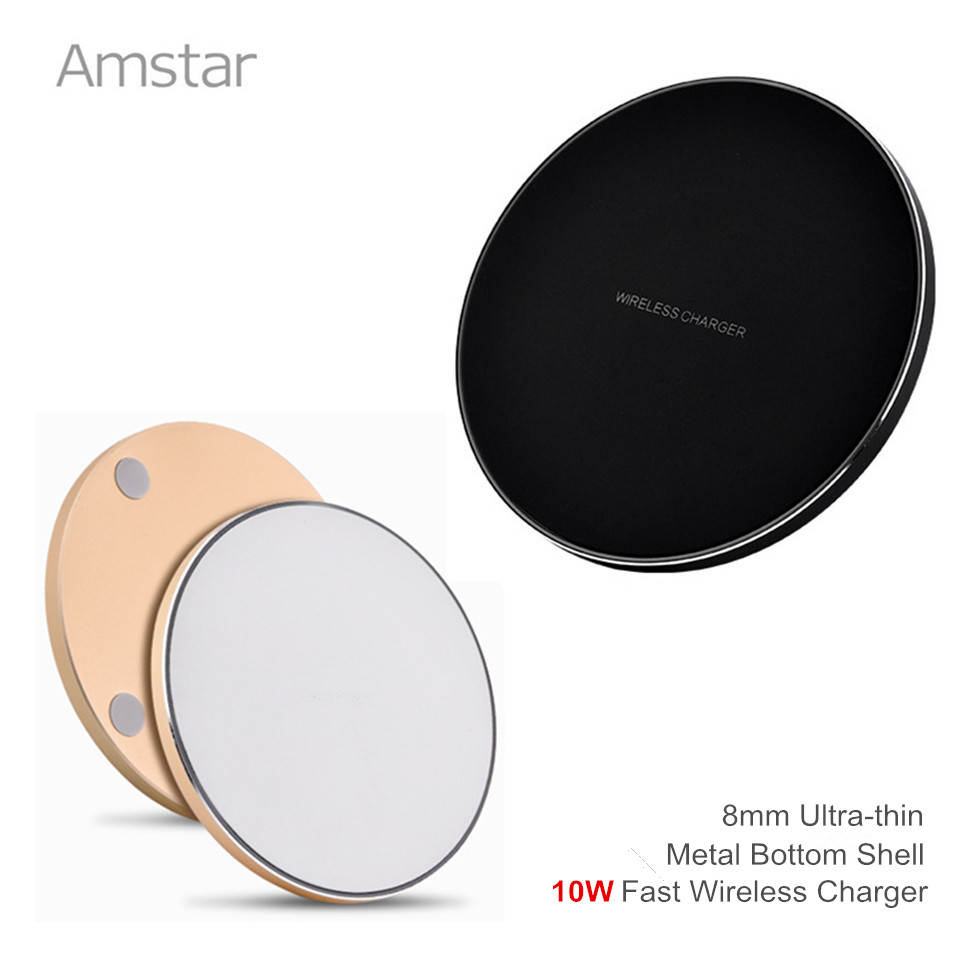 Amstar 10W Qi Fast Wireless Charger Quick Wireless s