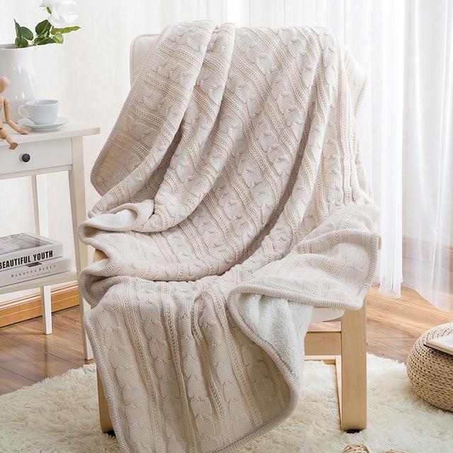 couvre lit en laine Hiver Chameau Chaud Tricoté Laine Couverture Canapé/Couvre lit  couvre lit en laine