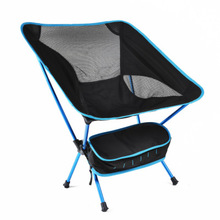 4 Optional Colors Portable Fishing Moon Chair Camping Outdoor Folding Seat Extended Leisure Garden Ultra Light Chair with Pocket цена 2017