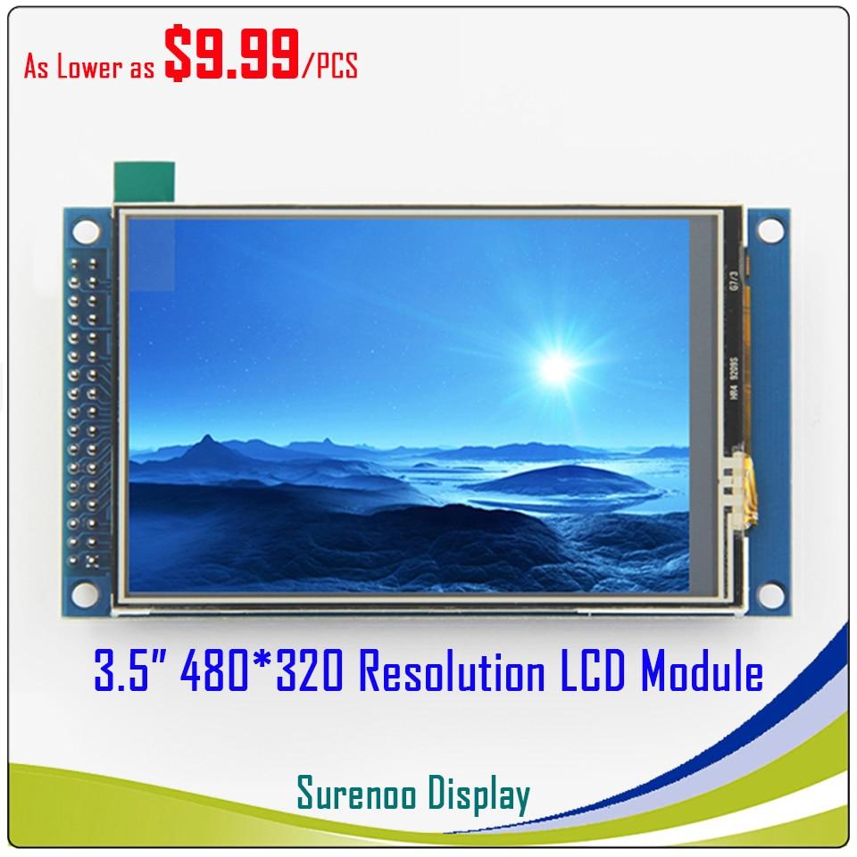 3,5 pulgadas 480*320 TFT LCD Módulo de pantalla con Panel táctil coche IC ILI9486 XPT2046 PCB adaptador