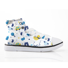 Cartoon Bus Print Canvas Shoes For Men Casual Autumn Flats For School Students Teenager Boys Sneakers Comfort Loafers Size 29-34