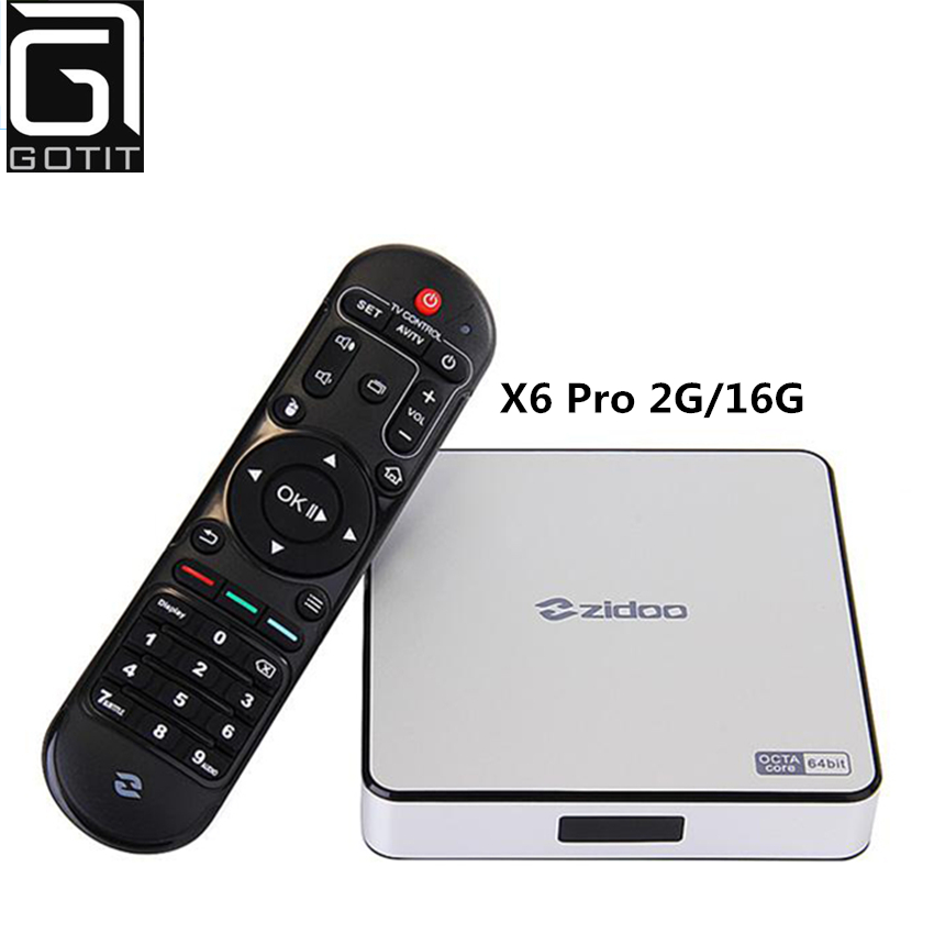 2017 The Newest ZIDOO X6Pro Android 5.1 TV Box RK3368 Quad Core 1.5GHz 2G/16G 802.11AC Bluetooth 4K*2K H.265 3D HD Media Player смарт тв приставка zidoo x6 pro 2 16 гб с android 5 1 и wi fi