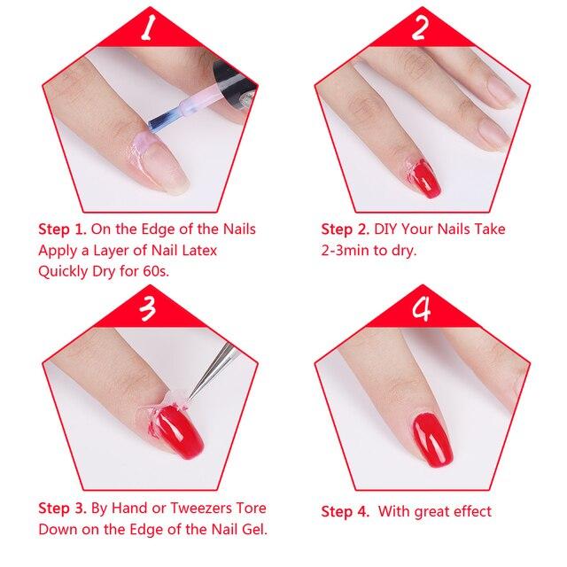 Elite99 8ml Peel Off Schützende Nagellack Nagel Latex Schälen Weg Von Flüssigen Schutz Finger Haut Einfach Sauber Creme Nagel pflege Werkzeug