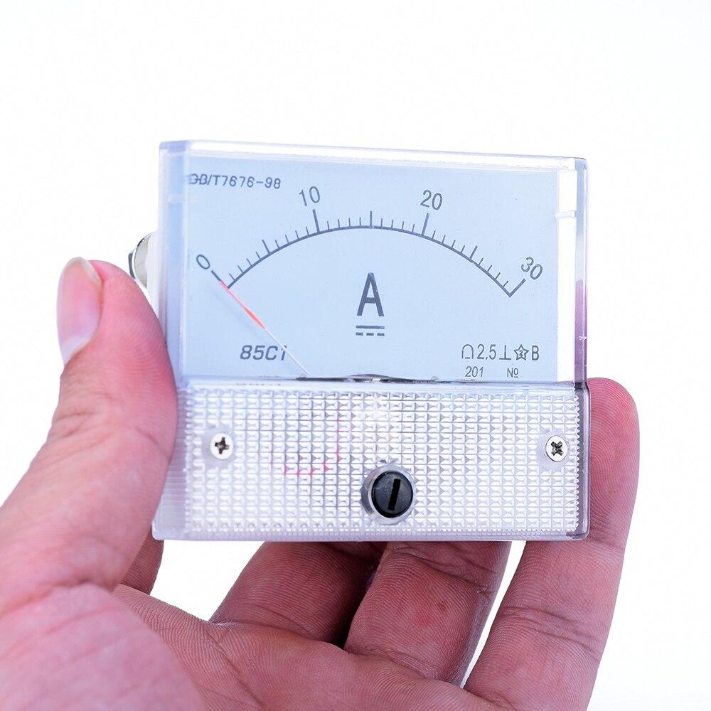 Профессиональный счетчик электроэнергии DC Диапазон Амперметр 0-30A Пластик случае аналоговые вертушек 63*55 мм