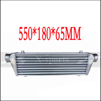 Car Cooling System Turbo Parts Radiator Intercooler Front Mount Universal High Quality Aluminum Silver Core Body 550*180*65