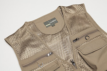Outdoor Fishing Vests Army green&Khaki Quick Dry Breathable Multi Pocket Mesh Jackets Photography Hiking Vest