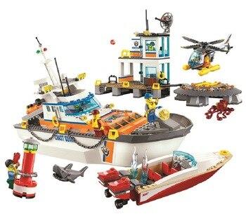 Bela 10755 City Series 855pcs Coast Guard Head Quarters Building Blocks Sets Education Toys For Birthday Gift Compatible 60167 1