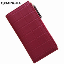 High Quality Wallets Female PU Leather Wallets Women Double Zipper Long Coin Purses Money Bag Credit Card Holder 2010-5