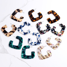 2018 New Fashion Jewelry Leopard Earrings for Women Bohemian Geometric Luxury Acrylic Tortoiseshell Brinco