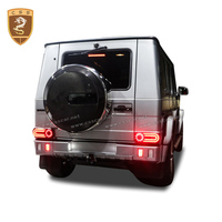 Real Carbon Fiber Spare Tire Cover For Mercedes Benz G Class W463 G55 G65 G63 Carbon Accessories 2008 2014 With B LOGO