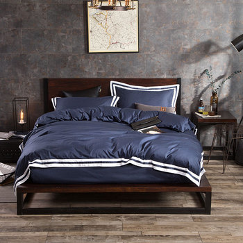 Modern Simple hotel Soft Bedding Set Gray Duvets and Bedding Sets Queen King Size Bed Sheet Set Nordic Bed Covers