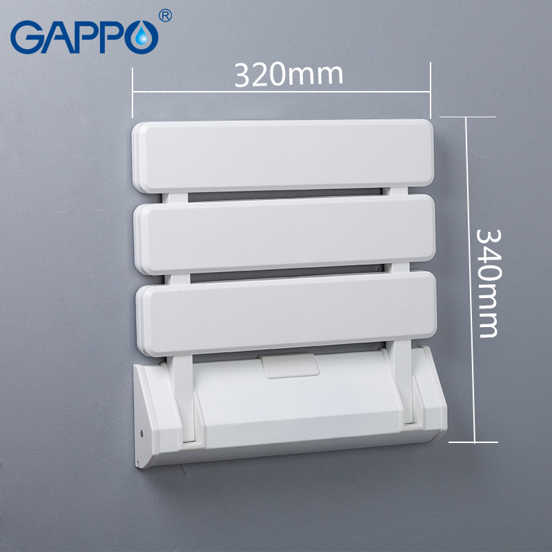 Gappo Wall Mounted Shower Seat Shower Folding Seat For Elderly Toilet Bath Stool Bathroom Seats For Seniors And Elders Bathroom Safety & Accessories