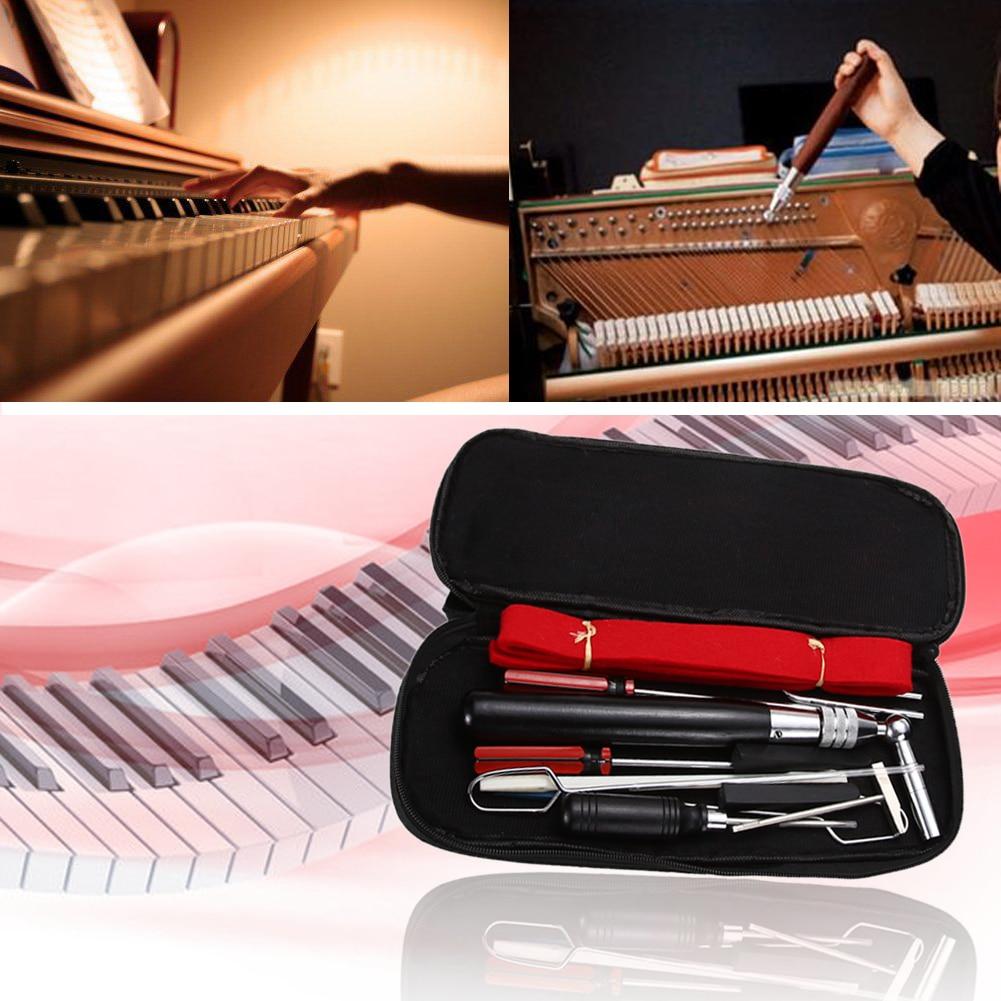 Professional 13 in 1 Strumenti di accordatura per pianoforte Kit di - Set di attrezzi - Fotografia 2