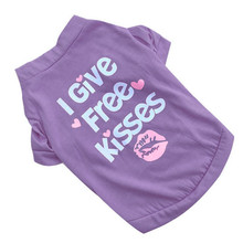 """Lovely, colorful """"I give Free kisses"""" yorkie shirt"""