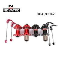 Original Novatec D041SB D042SB disc card brake MTB mountain bike hub bearing bicycle hubs 28 32 36 Holes 28h 32h 36h red black