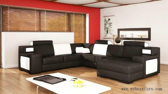 Divano Nero E Bianco : Spedizione gratuita in pelle nera divano in bianco e nero in