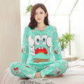 New Listing 2017 Autumn /Spring Carton Pyjamas Women Girl Pajama Sets Cartoon Sleepwear Pajamas for women Long-Sleeved Tracksuit