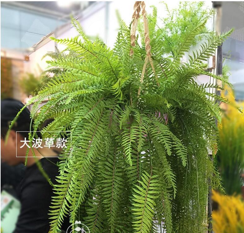 Herbe persane. panier suspendu sent la colle douce plante décoration murale matériel fleur artificielle fleur sèche super simulation plante