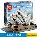 2989 шт. 17003 Создатель Экспертов Sydney Opera House Строительные Блоки Австралии архитектурный шедевр Игрушки Совместимость с Lego