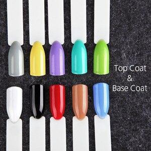 Image 5 - (12PCS/LOT) ROSALIND 7ML Solid Color Nail Gel Polish Long Lasting Gel Varnish Soak Off Gel Nail Polishes Gel Set & Kits