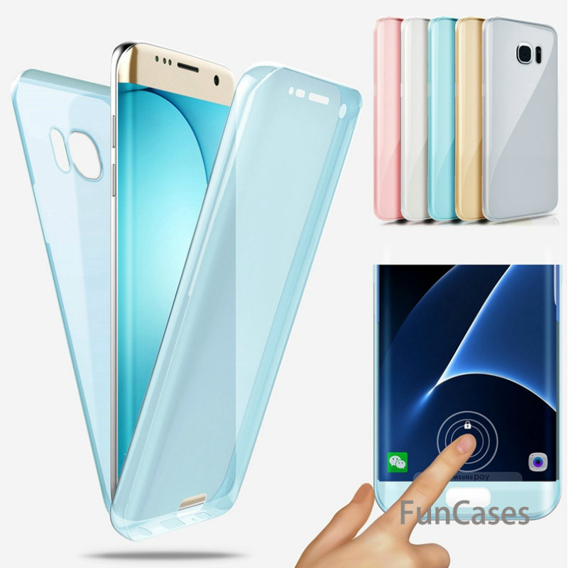 360 Full body Case For Samsung Galaxy S9 S8 A6 A8 Plus 2018 S5 S6 S7 Edge A3 A5 A7 <font><b>2016</b></font> <font><b>J3</b></font> J5 Pro J7 2017 Soft Clear TPU Coque image