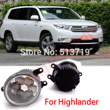 2015 new auto accessories car LED front fog lights strobe line group For Toyota Highlander 2008-2013 car styling parking