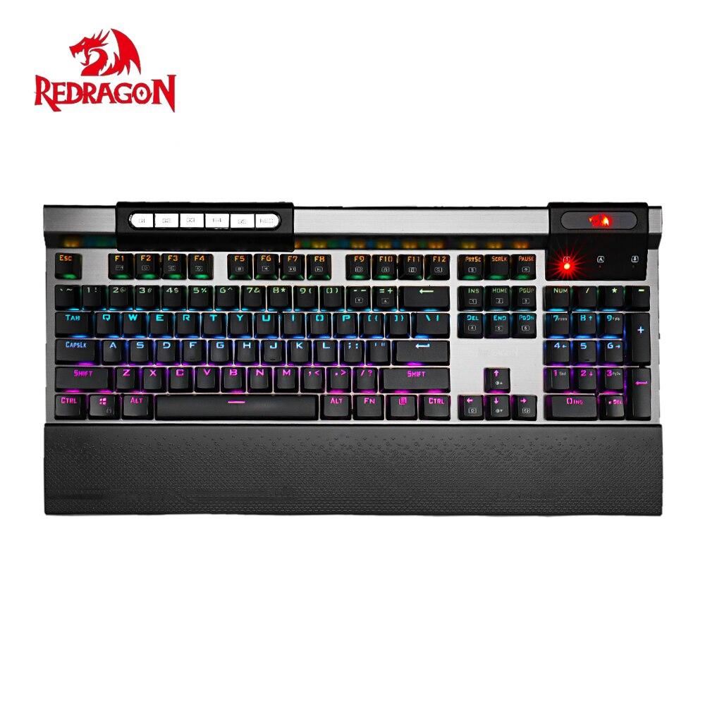 ⃝Redragon K563 SURYA RGB LED retroiluminado teclado de juego ...
