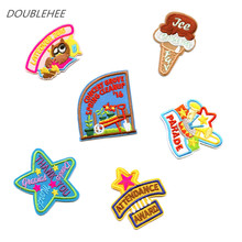DOUBLEHEE 5 STARS ICE The Spring Is Pure Fresh Patch Embroidered Iron On Patches Embroidery Sew On DIY Coat Shoes Accessories
