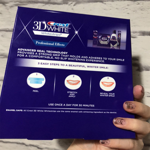 Image 5 - 5 กระเป๋า 10 แถบ 3DสีขาวWhitestrips Luxe Professional Effects Teeth Whitening Stripsฟอกสีฟันเจลต้นฉบับOralสุขอนามัย
