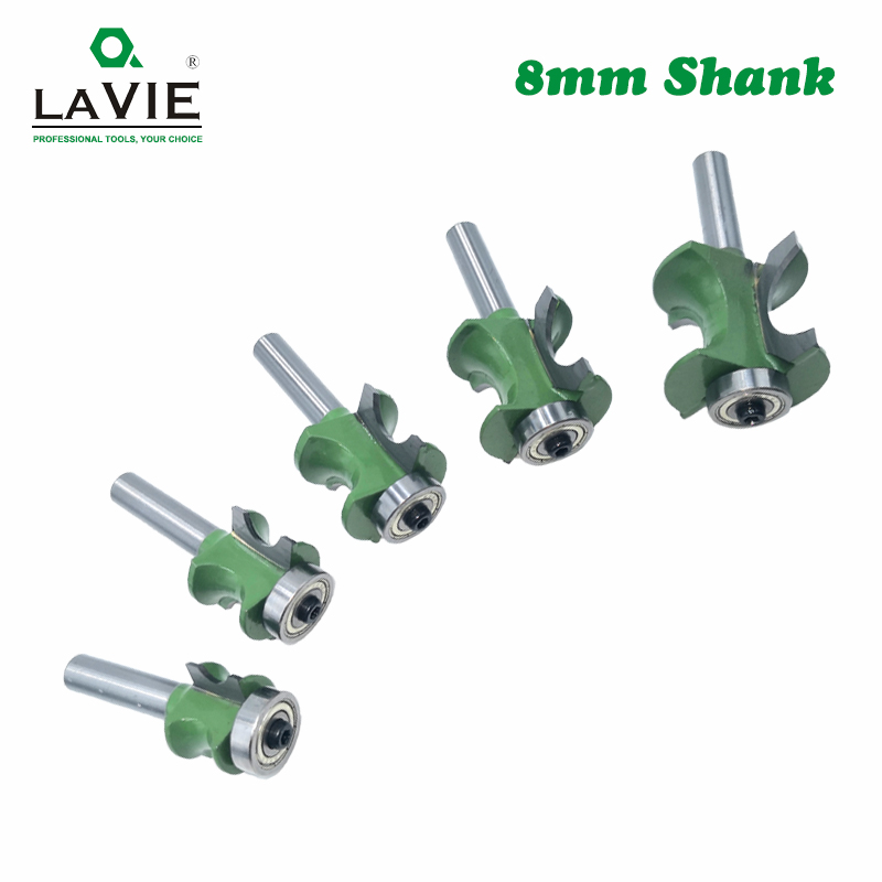 Image 5 - LA VIE 1 PC 8mm Shank Bullnose Half Round Bit Endmill Router Bits Wood 2 Flute Bearing Woodworking Tool Milling Cutter MC02047-in Milling Cutter from Tools