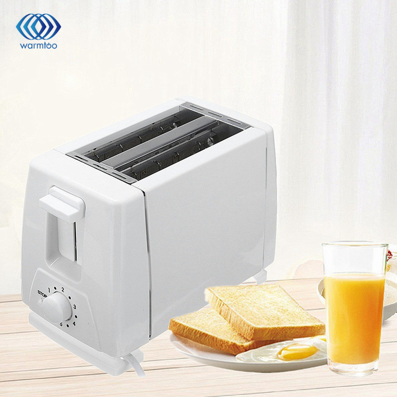 Household Automatic Bread Toaster Baking EU Plug 750W Bread Maker Machine 2 Slices Slots For Breakfast Multifunctional 230V