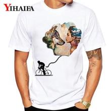 New Summer 3D Print T-Shirt Men Women Bike Graphic Wolf Tees Couple Casual White Tee Shirts Unisex Tops худи print bar white wolf