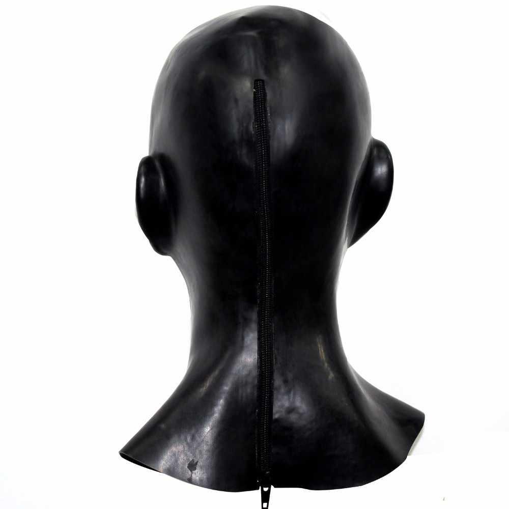 Красота женщина латексная маска закрытые глаза маска-Фетиш подходит для головы 52-57 см полная голова человека анатомическая Женская лицо леди латекс мА