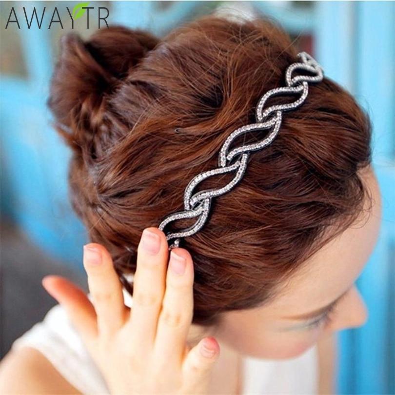 Fashion Twist Leaves Colorful Teeth Bezel Hairbands Girls Hair Hoop Headband Fixed Headwear For Women Hair Band Hair Accessories