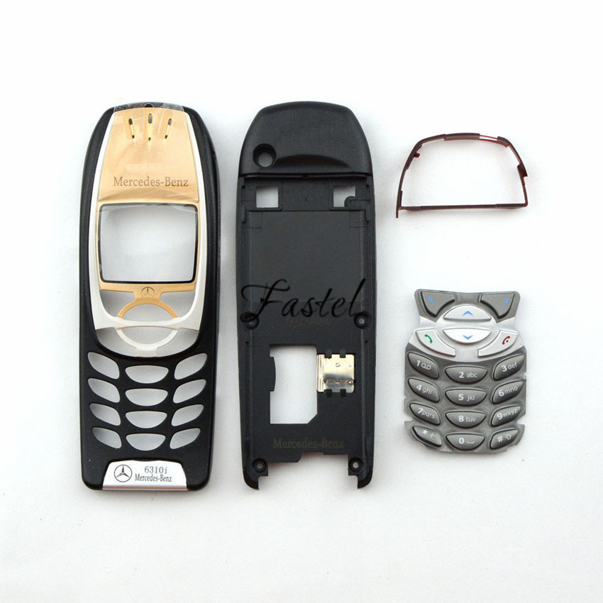 For Nokia 6310i Mercedes Benz Logo High Quality New Full Complete Phone Housing Cover Case Keypad
