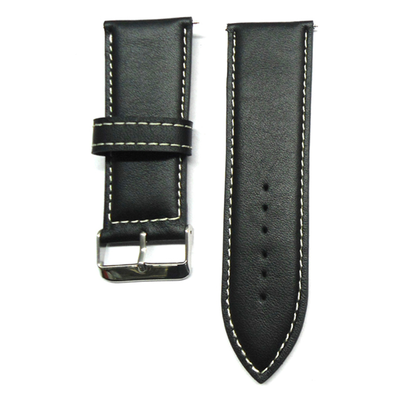 Watch Strap 30mm Watch band Black Large Size Vintage Style Calf Genuine Leather Watch Strap Watches Accessories For Wrist Watch