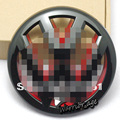 Shinning Glossy Black Inner Red Front Grille Emblem Badge Logo For VW JETTA MK6 11-13