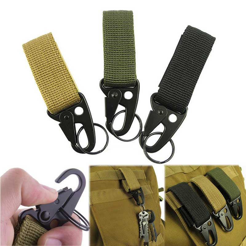 Outdoor Carabiner Key Sling Eagle Mouth Hook Webbing Molle Buckle Hanging Belt Carabiner Clip Climbing Hiking Equipment Buckles
