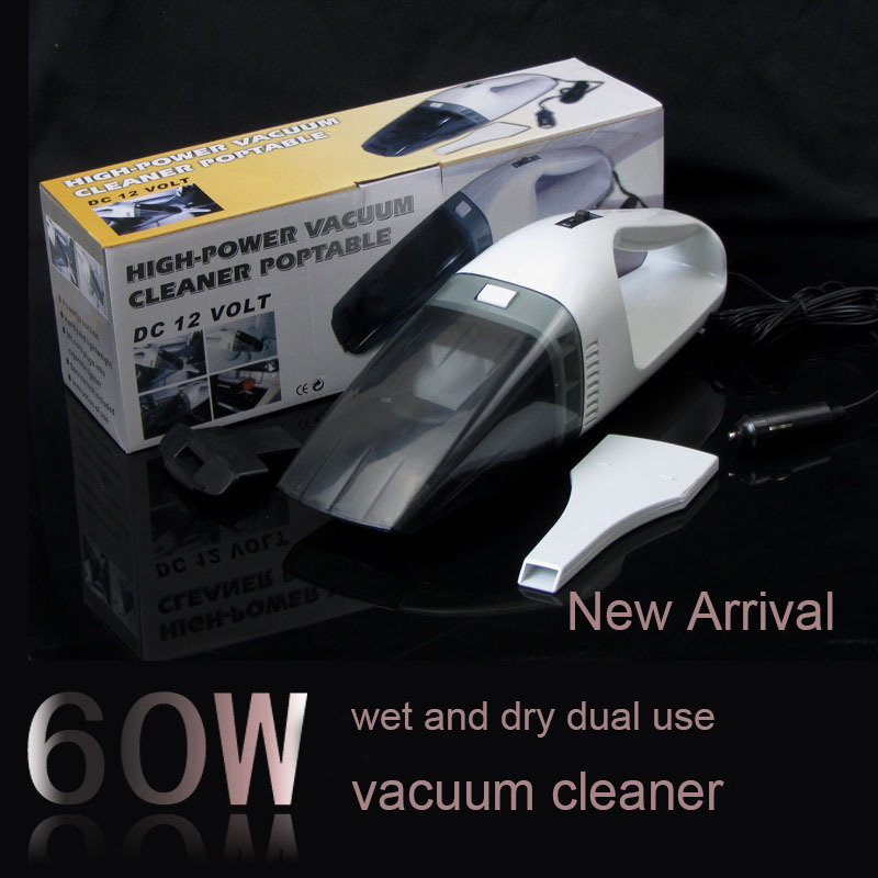 5M 120W 12V Car Vacuum Cleaner Super Suction Handle Wet and Dry Dual Use Vaccum Cleaner