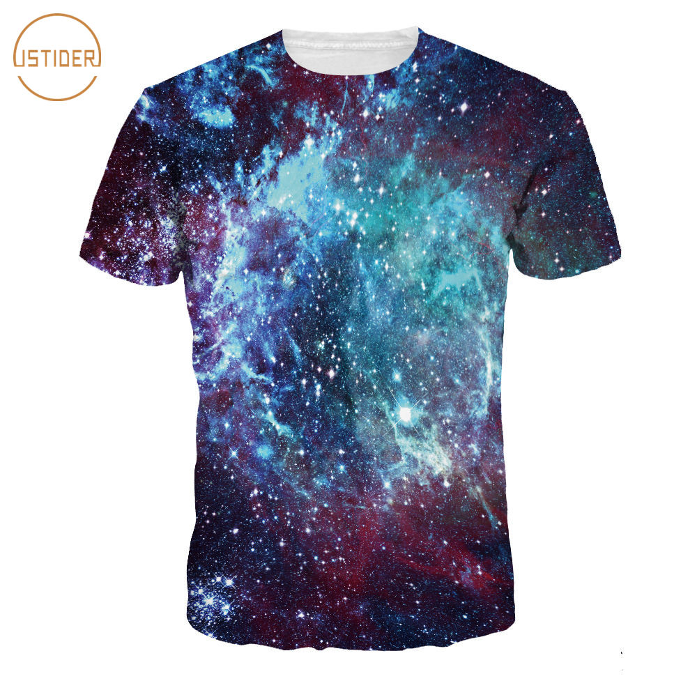 Design t shirt galaxy - Istider 2017 Hot Design 3d Space Galaxy T Shirt Shining Stars In The Sky T