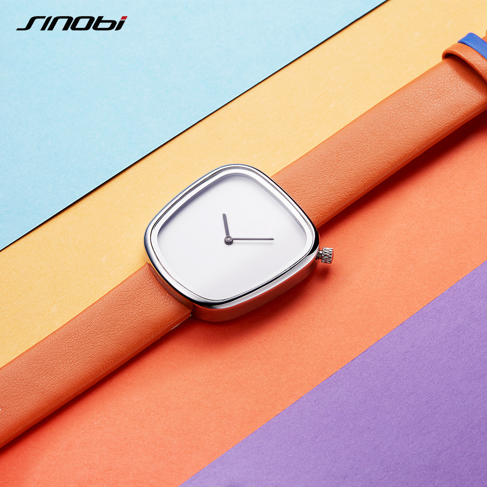 SINOBI Brand Irregular Women Fashion Casual Watches Neutral Pebble Ladies Quartz Wristwatch Clock Woman Relogio Feminino 2017 2017 free shipping smart wall switch crystal glass panel switch us 2 gang remote control touch switch wall light switch for led