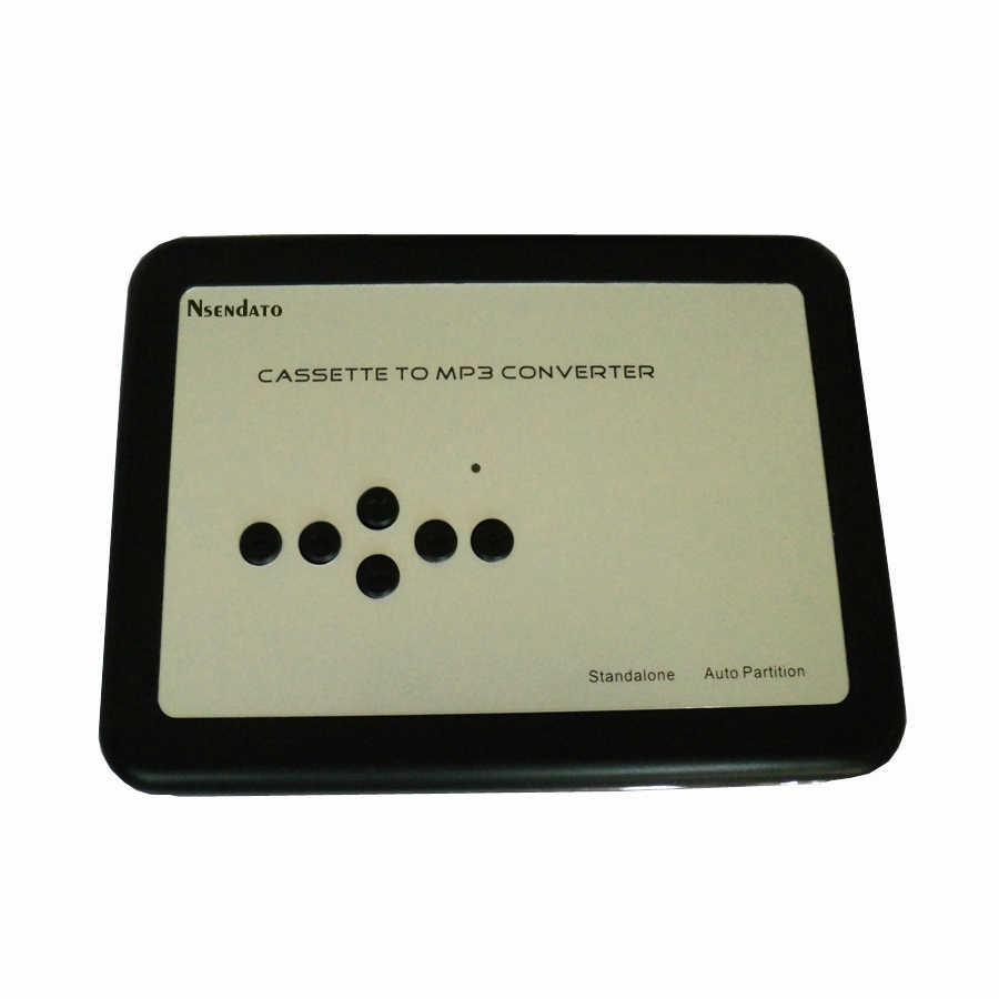 แบบพกพาUSBเทปเป็นMP3แปลงสนับสนุนบัตรTFกับหูฟังบันทึกเสียงบันทึกเสียงusbเครื่องเล่นเทปและแปลง