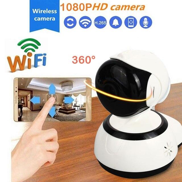 US $28 34 19% OFF WIFI 1080P HD V380 IP Camera Mini Surveillance Camera Cam  Premium Camcorder Infrared light night vision alarm recording-in