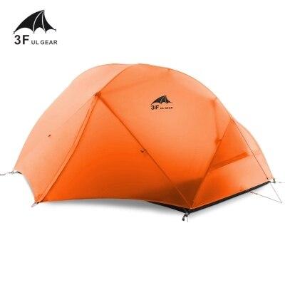 3F extérieure Piaoyun2 2 personne 15D de silicium enduit quatre saison double couche camping tente