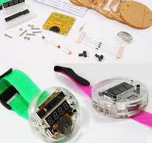 DIY LED Digital Watch Electronic Clock Kit With Transparent Cover(China (Mainland))