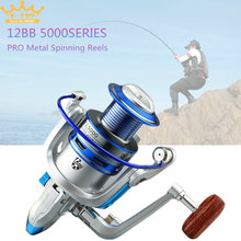 5000 Series 12 Ball Bearings 5.2:1 Fishing Reel Tackle Reel Fishing Spinning Reel Fishing