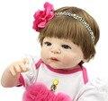 23 Дюймов Реалистичные Принцесса Девушка Полный Силиконовые Винил Возрождается Куклы Ручной Работы Куклы Реалистичные Куклы Детские Живой Рождественский Подарок