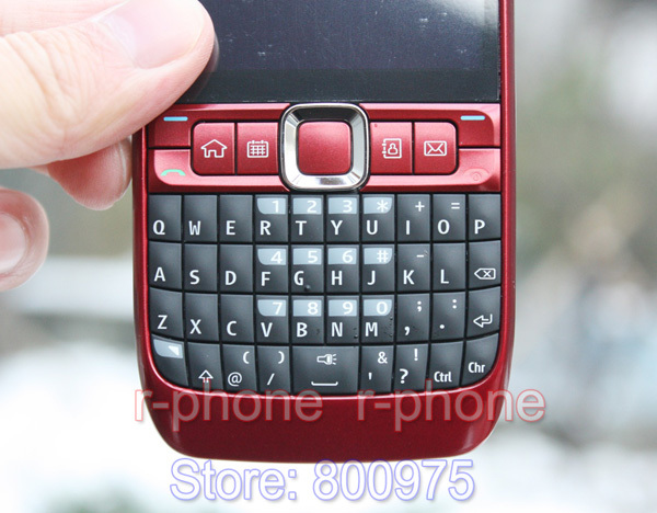 Image 4 - 100% Original NOKIA E63 Mobile Phone 3G Wifi Bluetooth QWERTY Keyboard Unlocked E63 RED & One year warranty-in Cellphones from Cellphones & Telecommunications