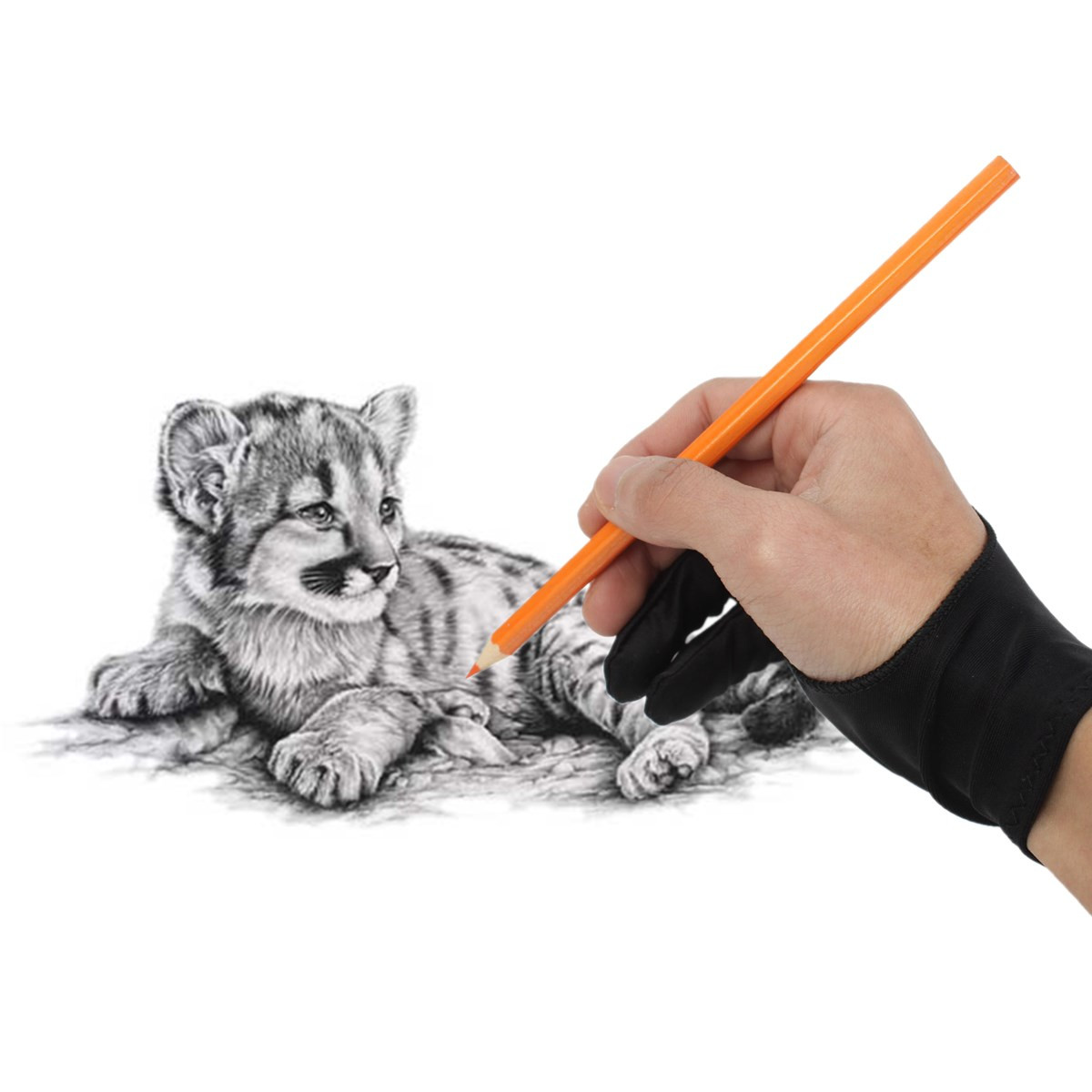 2 PCS Graphics Drawing Pen Tablet Tracing Pad Anti Fouling New Excellent Professional Design Artist Drawing Two Finger Glove